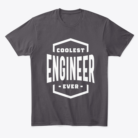 Engineer Work Job Title Gift Heathered Charcoal  T-Shirt Front
