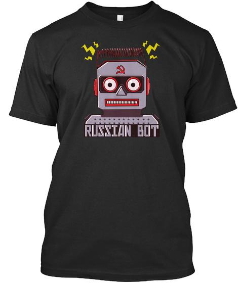 Russian Bot  Black T-Shirt Front