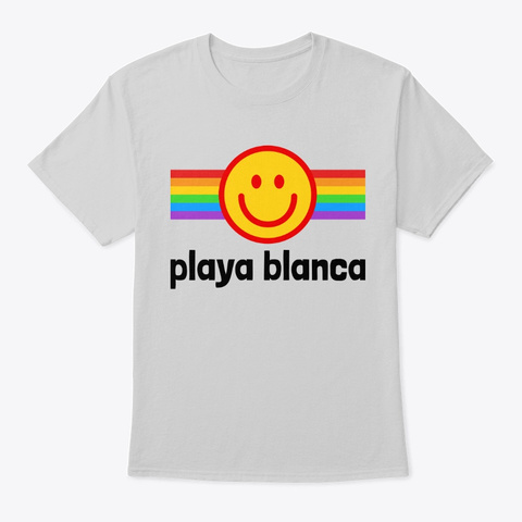 Smily Playa Blanca  Light Steel T-Shirt Front