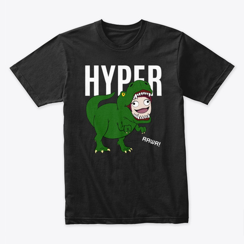 Hyper's Rawr Collection Black T-Shirt Front