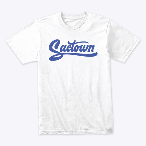 Sactown   1985 Blue White T-Shirt Front