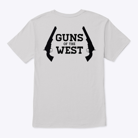 Quarantine Me To The Gun Range Light Steel T-Shirt Back