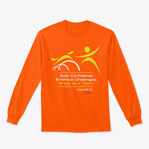H360 Hoodies, Tees And Mugs Safety Orange T-Shirt Front