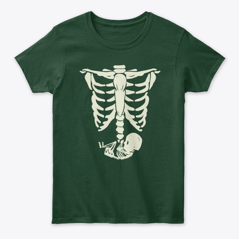 Coming Mom Forest Green T-Shirt Front
