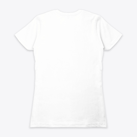 Queen Power White T-Shirt Back