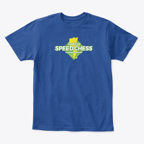 Jscc Junior Speed Chess Championship Tee Deep Royal  T-Shirt Front