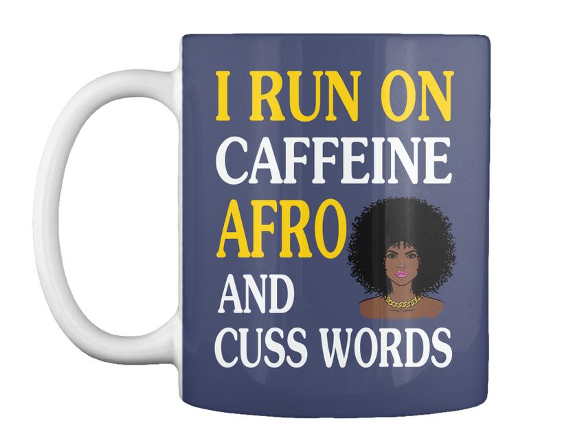 miniature 7 - Run On Caffein And Afro - I Caffeine Cuss Words Gift Coffee Mug
