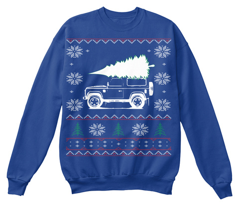 Landy Christmas Royal Blue Sweatshirt Front