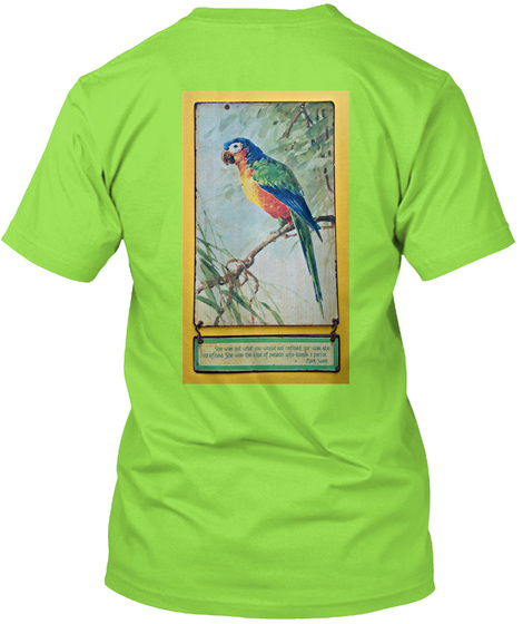 Vintage Parrot Wall Hanging T Shirt Lime T-Shirt Back