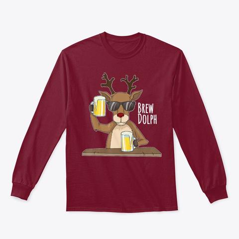 Brew Dolph Shirt, Funny Rudolph Xmas Cardinal Red T-Shirt Front