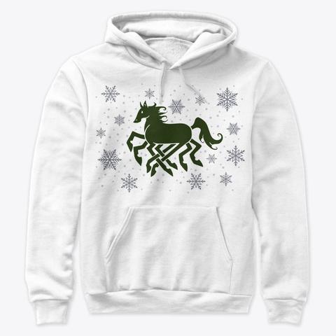 F So A Snowy Sleipnir | Green White T-Shirt Front