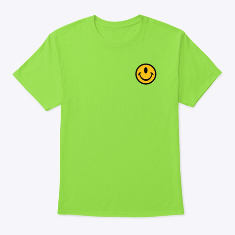 Small Smileclops™ Lime T-Shirt Front
