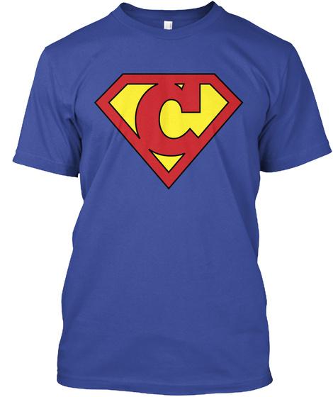 C Deep Royal T-Shirt Front