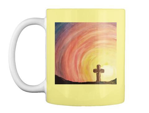 Jesus Did It Mug Butter Yellow Mug Front