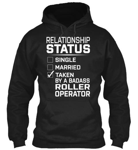 Roller Operator   Relationship Status Black T-Shirt Front