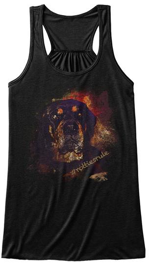#Rottiesrule Black T-Shirt Front