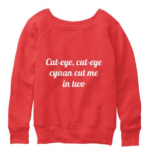 Cut Eye, Cut Eye Cyaan Cut Me In Two Red T-Shirt Front