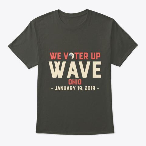 We Vote Ohio Womens Wave Tshirt Smoke Gray T-Shirt Front