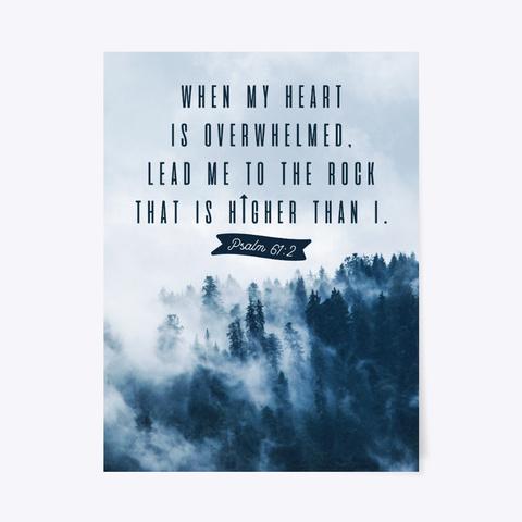 Psalm 61:2 Poster Standard T-Shirt Front