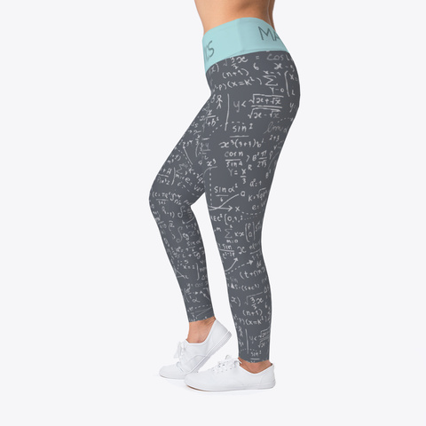 Mathematics Legging Gray Standard Camiseta Left