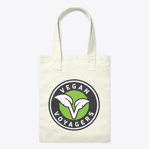 Vegan Voyagers Tote Bag Natural T-Shirt Front