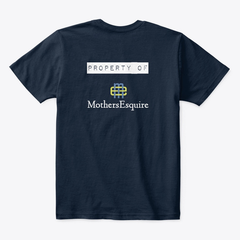 Mom's A Lawyer New Navy T-Shirt Back
