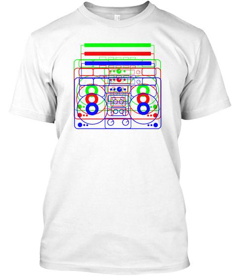 Classic Radio Light White T-Shirt Front