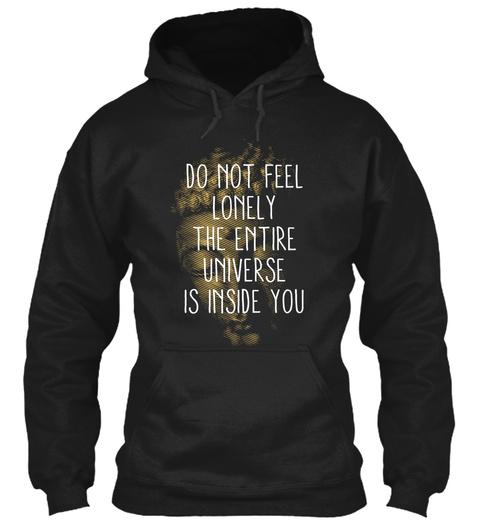 Entire Universe Zen Meditation Buddha Black T-Shirt Front