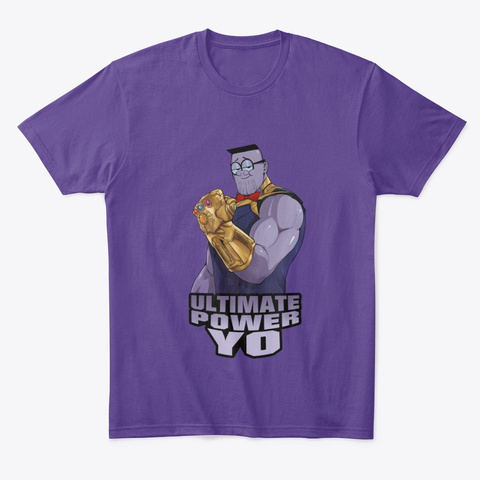 Ultimate Power Yo Purple T-Shirt Front