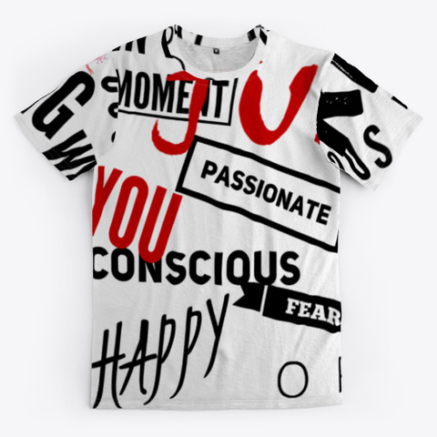 Be Human Happy Conscious Responsible Standard T-Shirt Front