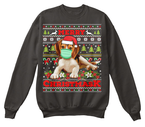 Merry Christmas 2020 Beagle Ugly Sweater Jet Black T-Shirt Front