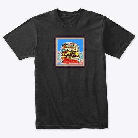 Burger Art Tee Vintage Black T-Shirt Front