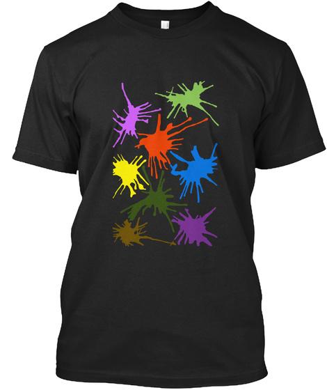 Color Shirt Black T-Shirt Front