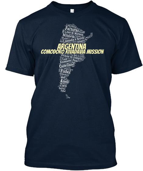 Argentina Comodoro Rivadavia Mission New Navy T-Shirt Front