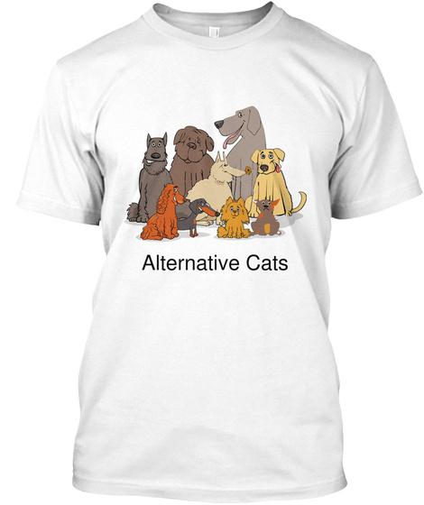 Alternative Cats White T-Shirt Front