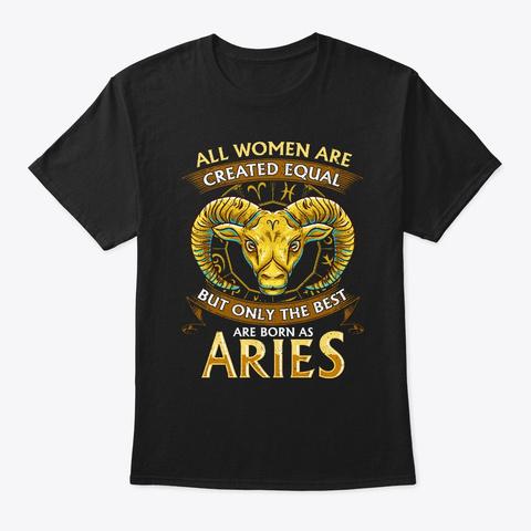 Aries Women Design Birthday Gift Zodiac Black T-Shirt Front