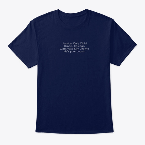 Jessica Only Child Navy T-Shirt Front