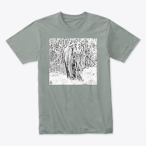 Elephant Shadow Warm Grey T-Shirt Front