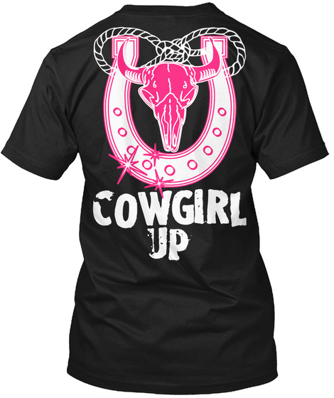 Cow Girl Up Black T-Shirt Back