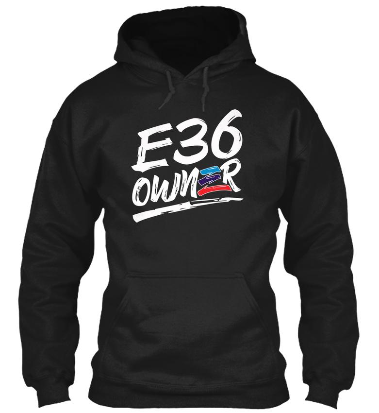 E36 Owner Us Tee, White Text - Gildan Hoodie Sweatshirt