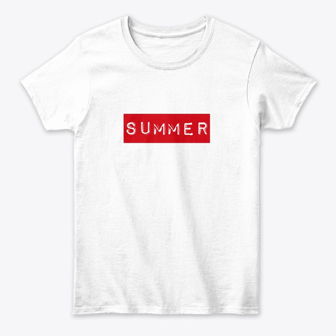 Summer T Shirt  White Women's T-Shirt Front