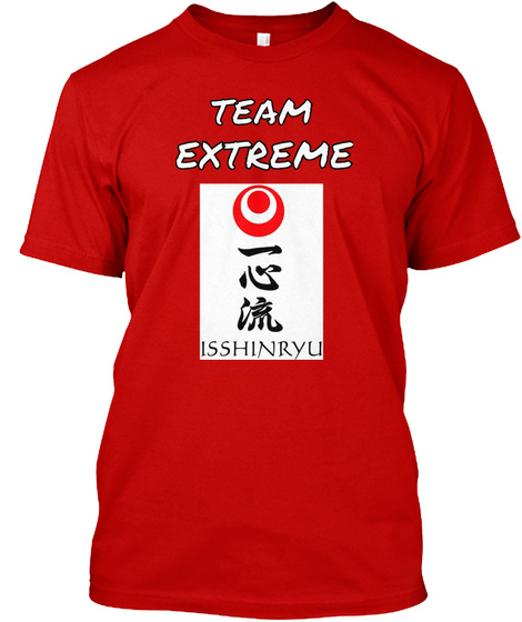 Team Extreme Isshinryu Classic Red T-Shirt Front