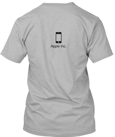 Apple Inc. Athletic Heather T-Shirt Back