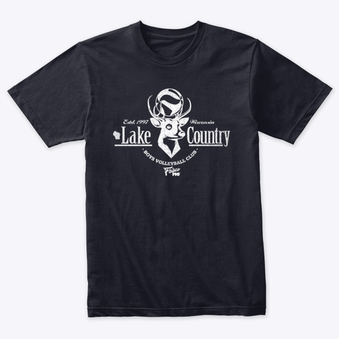 Lake Country 8 Point Buck Ii Vintage Navy T-Shirt Front