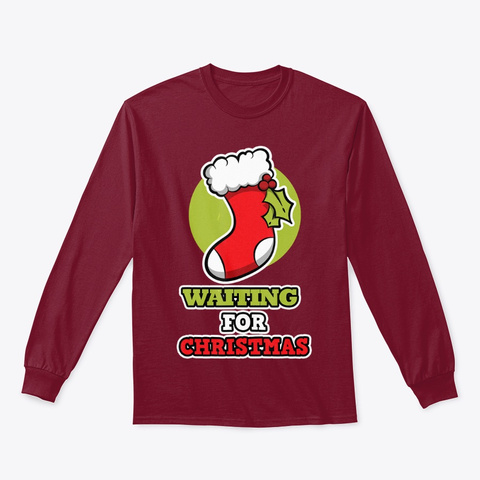 Christmas Shirt For The Family   Waiting Cardinal Red T-Shirt Front