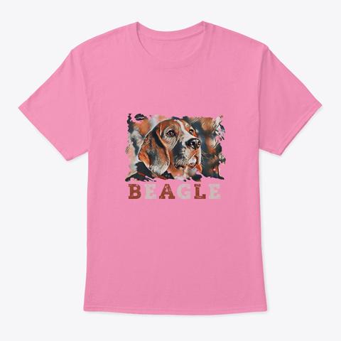 Beagle Art Pink T-Shirt Front