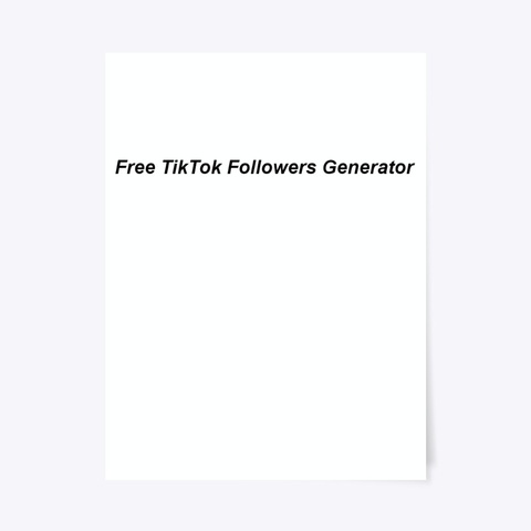 Instant |Free Tik Tok Followers| And Fans Standard T-Shirt Front