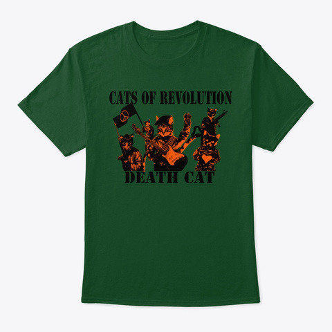 Cats Of Revolution Deep Forest T-Shirt Front