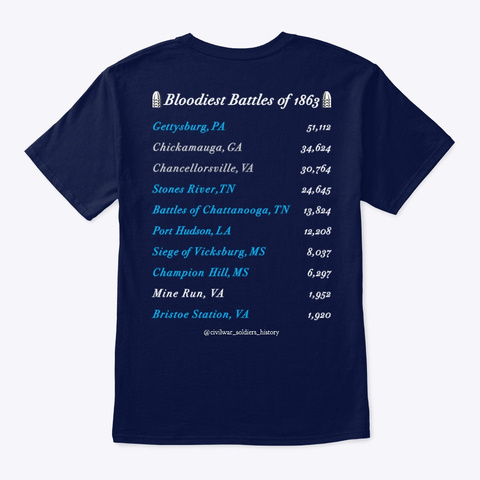 1863 Collection Navy T-Shirt Back