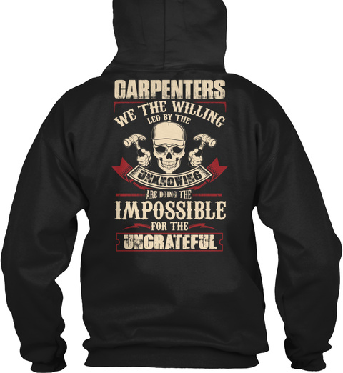 Carpenter Impossible Ungrateful Black T-Shirt Back